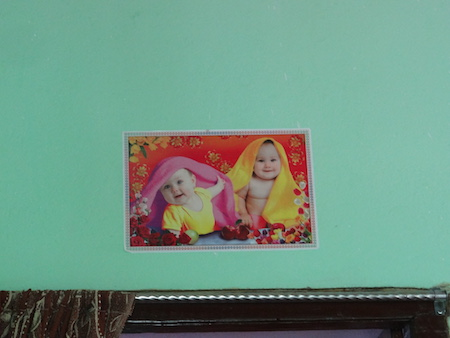 baby pic in drawing room pg21